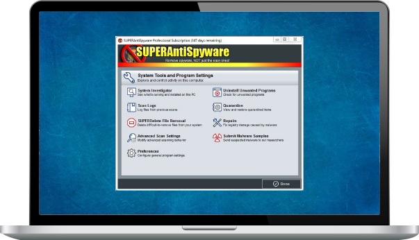 SUPERAntiSpyware Professional Edition